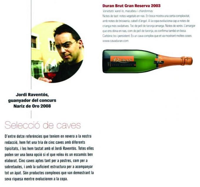 cupatges-magazine-duran-gran-reserva-brut-december-2008