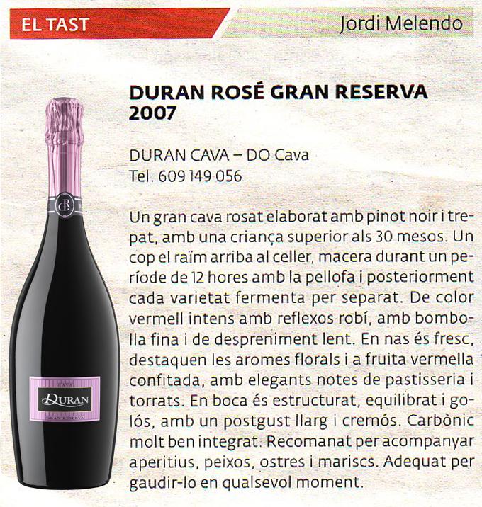 El 3 de 8 - Duran Rosé Gran Reserva 2007 - Abril 2011