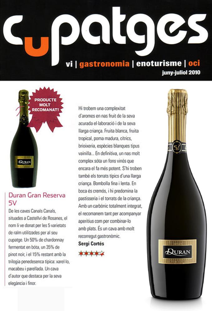 Cupatges Magazine - Duran 5V - June 2010