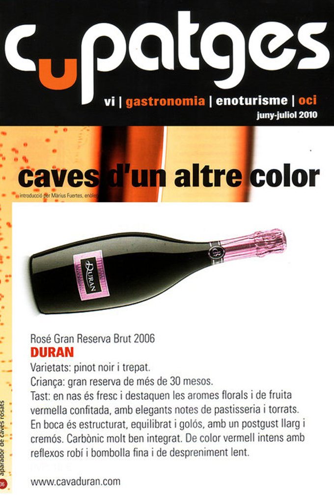 Cupatges - Duran Rosé - Junio 2010