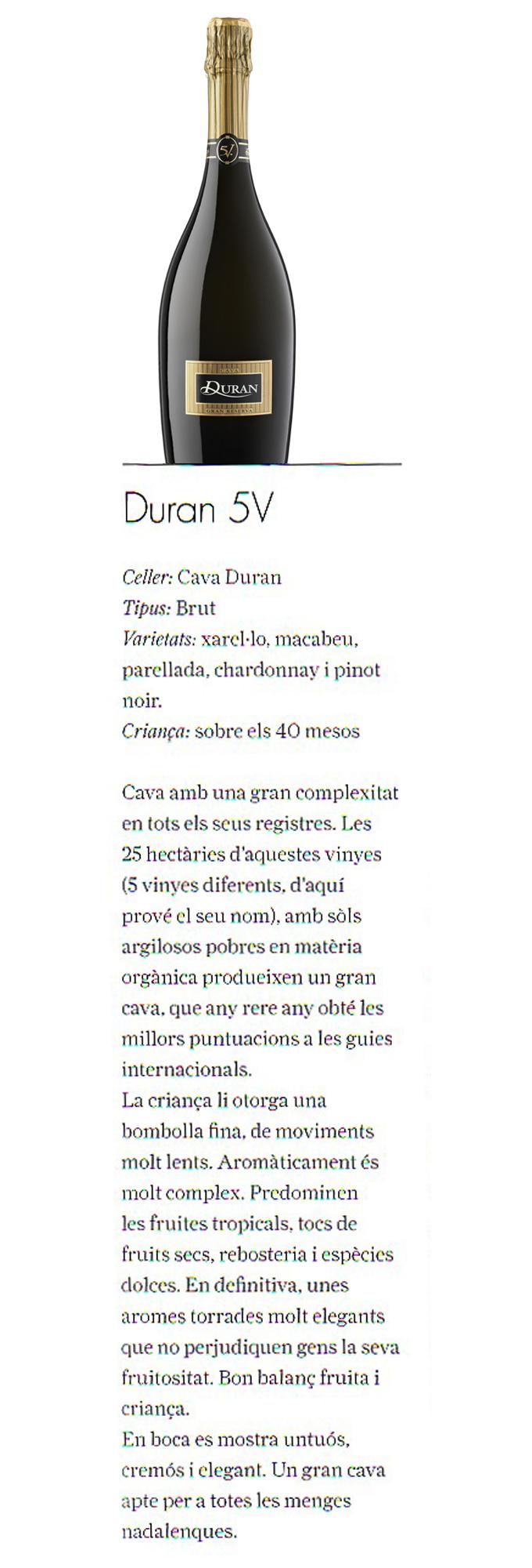 Cupatges - Duran 5V Gran Reserva - Diciembre 2010