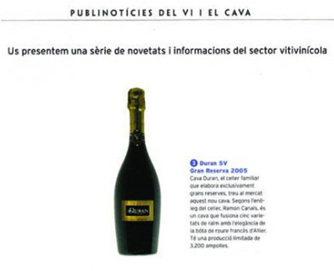 Descobrir Cuina - Duran 5V Gran Reserva - Diciembre 2008
