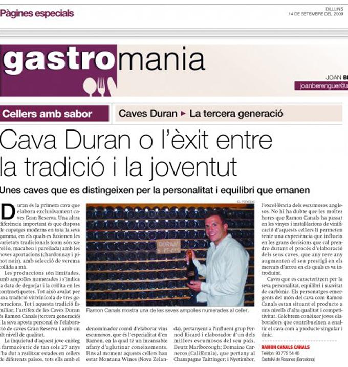 Periódico de Andorra - Septiembre 2009