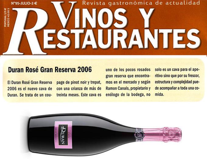 Vinos y restaurantes - Duran Rosé - Julio 2010