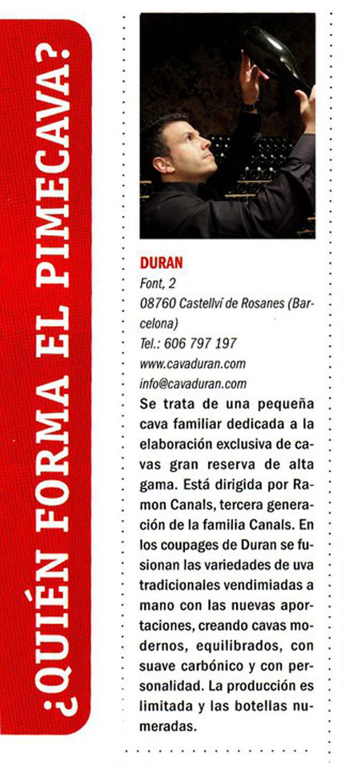 Vinos y restaurantes - Pimecava - Noviembre 2010