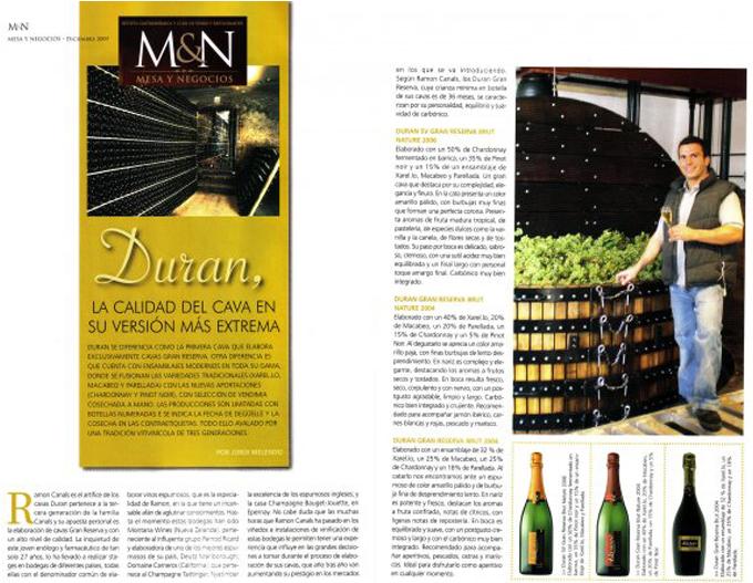 Mesa y negocios - publireportage dieciembre 2009